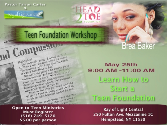 Teen foundation workshop